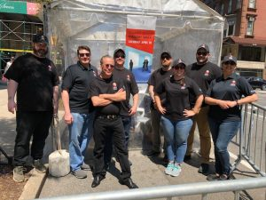The SRI team at the ArtNews tent at the Madison Avenue Gallery Walk