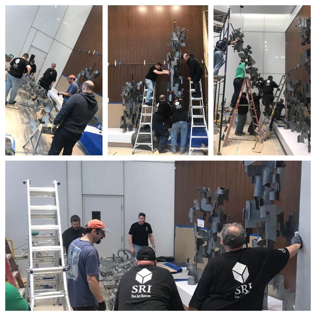 Team SRI assists artist Steve Zolin to install his work at a new hotel near Times Square.
